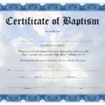 Baptism Certificate – Free Printable – Allfreeprintable With Christian Baptism Certificate Template