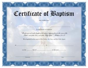 Baptism Certificate – Free Printable – Allfreeprintable with regard to Best Baptism Certificate Template Word Free