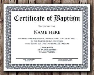 Baptism Certificate Word Editable Template , Selecting for Quality Baptism Certificate Template Download