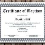 Baptism Certificate Word Editable Template , Selecting pertaining to Fresh Baptism Certificate Template Word