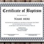 Baptism Certificate Word Editable Template , Selecting regarding Best Baptism Certificate Template Word Free