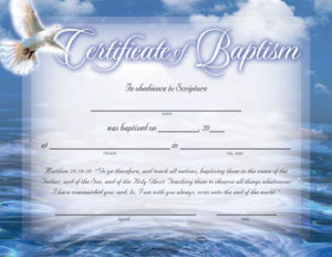 Baptism Certificates Free | Certificate Of Baptism throughout Baptism Certificate Template Word Free