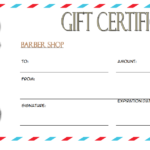 Barber Gift Voucher Template Free 1 | Barber Gifts, Voucher for Barber Shop Certificate Free Printable 2020 Designs