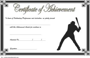Baseball Certificate Of Achievement Free Printable 7 In 2020 for Baseball Achievement Certificate Templates