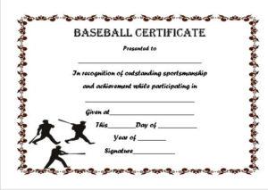 Baseball Certificate Template Word | Certificate Templates inside Baseball Achievement Certificate Templates