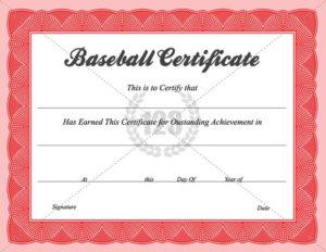 Baseball Certificate Templates Baseball Award Certificate with Quality Baseball Award Certificate Template