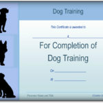 Basic Dog Training Certificate Template {Ppt – Pdf} Formats Throughout Dog Obedience Certificate Templates