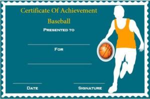 Basketball Achievement Certificate Template | Certificate with Fresh Basketball Achievement Certificate Templates