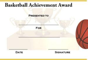 Basketball Achievement Certificate Templates | Certificate within Basketball Achievement Certificate Templates