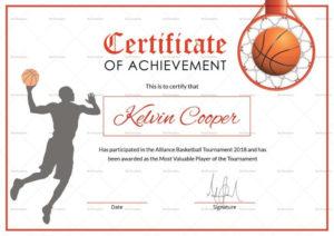 Basketball Award Achievement Certificate Template For regarding Fresh Basketball Achievement Certificate Templates