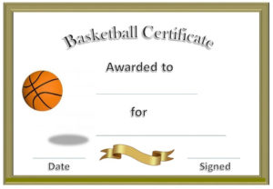 Basketball Award Certificate To Print | Basketball Awards intended for Fresh Basketball Achievement Certificate Templates