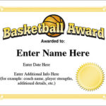 Basketball Award Template – Hoops Certificates With Regard To New Basketball Certificate Template