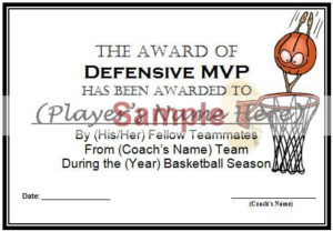 Basketball Awards Certificates: 9 Different Awards pertaining to Worlds Best Mom Certificate Printable 9 Meaningful Ideas