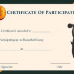 Basketball Camp Participation Certificates #Basketballcamps for Fresh Basketball Camp Certificate Template