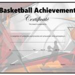Basketball Certificate – Free Printable – Allfreeprintable For Basketball Tournament Certificate Template