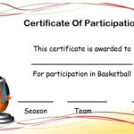 Basketball Certificate Of Participation Template Intended For Quality Best Coach Certificate Template Free 9 Designs