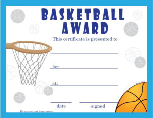 Basketball Certificate Template | Free Basketball inside Unique Basketball Certificate Template