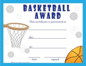 Basketball Certificate Template | Free Basketball throughout Fresh Basketball Achievement Certificate Templates