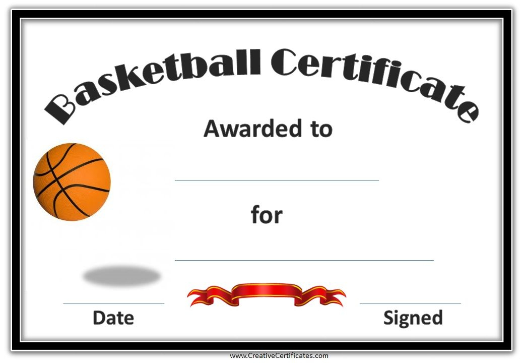 Basketball Certificates | Basketball Awards, Basketball for Basketball Gift Certificate Templates