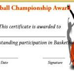 Basketball Championship Certificate   Basketball Pertaining To Basketball Tournament Certificate Templates