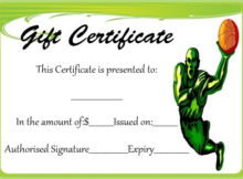 Basketball Gift Certificate Template   Corporate Gifts throughout Fresh Basketball Gift Certificate Template