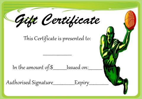 Basketball Gift Certificate Template | Corporate Gifts With Regard To Basketball Gift Certificate Templates