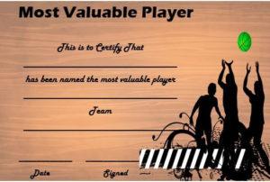 Basketball Mvp Certificate   Certificate Templates, Sports for Unique Basketball Mvp Certificate Template