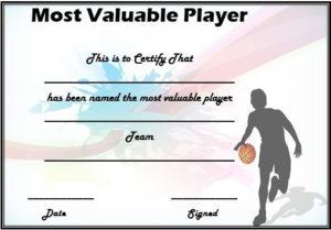Basketball Mvp Certificate Template | Certificate Templates in Mvp Certificate Template