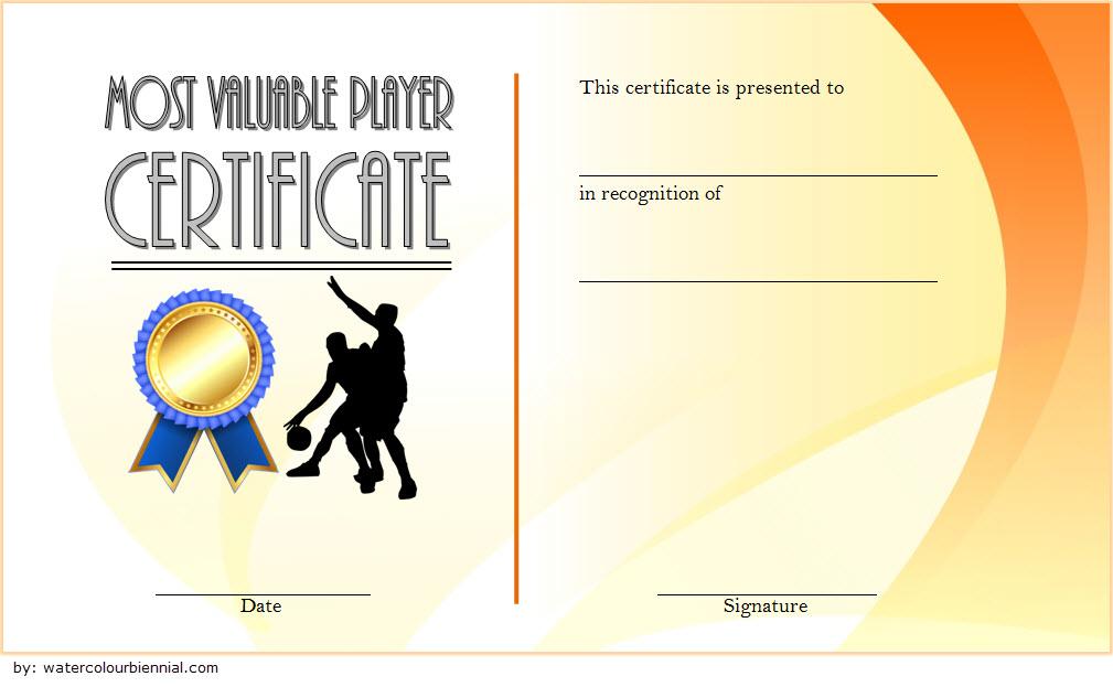 Basketball Mvp Certificate Template Free 1 intended for Unique Basketball Mvp Certificate Template