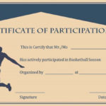 Basketball Participation Certificate: 10+ Free Downloadable Pertaining To Fresh 10 Certificate Of Championship Template Designs Free