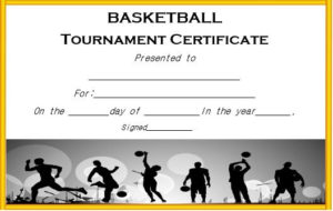Basketball Tournament Certificate Template   Certificate With Regard To Basketball Tournament Certificate Templates