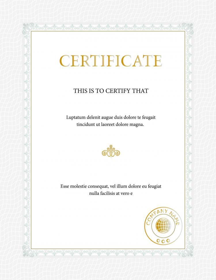 Beautiful Certificate Template (2644) Free Eps Download / 4 for Beautiful Certificate Templates