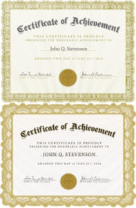 Beautiful Certificate Template 4 Vector Free Vector In throughout Beautiful Certificate Templates