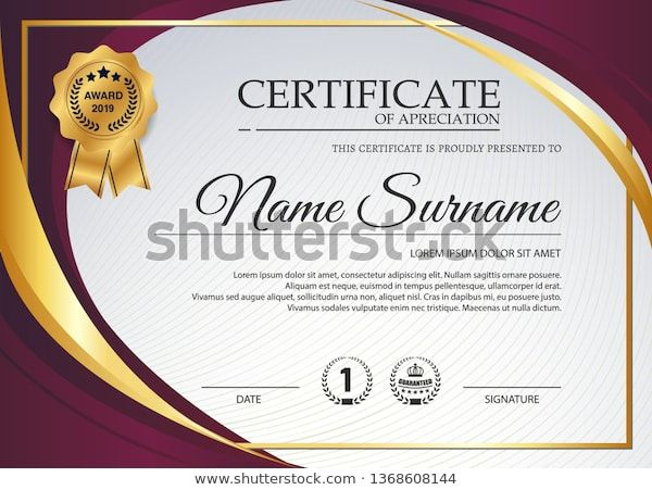 Beautiful Certificate Template Design Best Award Stock within Beautiful Certificate Templates