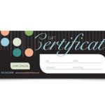 Beauty & Hair Salon Gift Certificate Template Design Inside Free Printable Beauty Salon Gift Certificate Templates