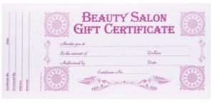 Berkeley Beauty Company Inc Beauty Salon Gift Certificate within Beauty Salon Gift Certificate