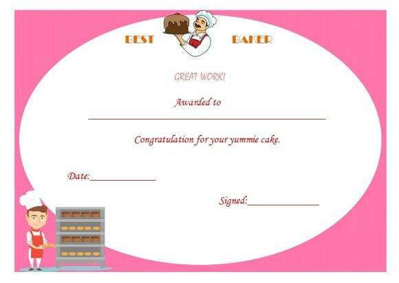 Best Baker Certificate   Cake Competition, Cake, Bake Off pertaining to Bake Off Certificate Template
