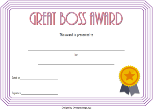 Best Boss Ever Certificate Free Printable (2Nd Design within Best Worlds Best Boss Certificate Templates Free