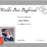 Best Boyfriend Award – Free Customization With Regard To New Best Boyfriend Certificate Template