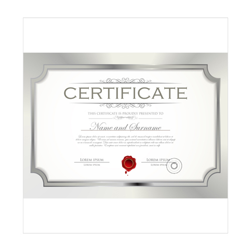 Best Certificate Template Design Vector 04 Free Download intended for Fresh Best Wife Certificate Template
