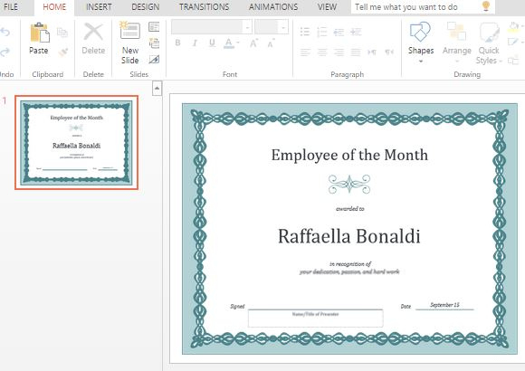 Best Certificate Templates For Powerpoint intended for Powerpoint Award Certificate Template