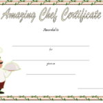 Best Chef Certificate Template Free Printable 3 Pertaining To Certificate Of Cooking 7 Template Choices Free