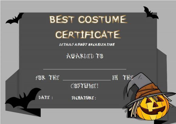 Best Costume Certificate Template | Certificate Templates For Unique Best Costume Certificate Printable Free 9 Awards