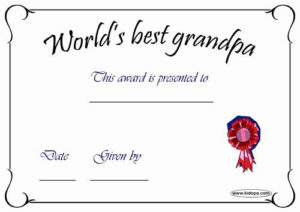 Best Dad Certificate Free Printable Fresh Printable Worlds inside Fresh Best Dad Certificate Template