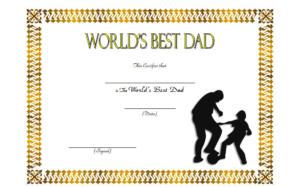 Best Dad In The World Certificate Free 2 | Best Dad, Worlds throughout Best Dad Certificate Template
