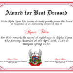 Best Dressed Award Certificate Colorful | Award Certificates For New Best Dressed Certificate Templates