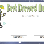 Best Dressed Award Certificate Template Free (Space Theme Inside Best Dressed Certificate Templates