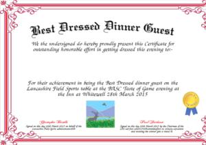 Best Dressed Award Certificates Printable | Activity Shelter inside New Best Dressed Certificate Templates