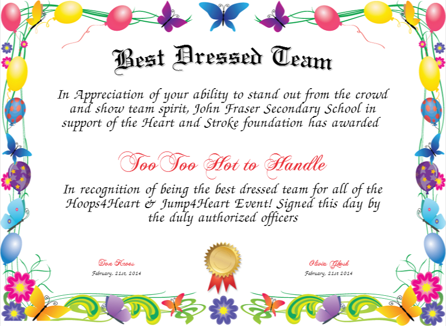 Best Dressed Award Certificates Printable | Activity Shelter intended for New Best Dressed Certificate Templates