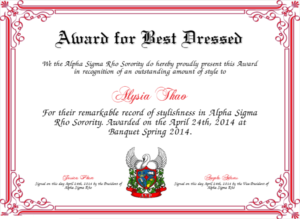 Best Dressed Award Certificates Printable | Activity Shelter intended for Unique Best Costume Certificate Printable Free 9 Awards